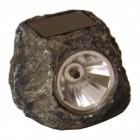 Stein Dekolampe in grau mit Solarzelle und LED