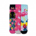 Karibik-Flamingo Oddsocks Socken in 37-42 im 3er Set