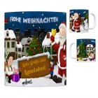 Landshut, Isar Weihnachtsmann Kaffeebecher