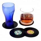 Vinyl Glasuntersetzer im 4er Set