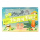Happy Hour Blechschild in 20x30 cm