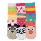 Oddsocks Faces Socken mit süßen Tiergesichtern im 3er Set