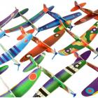 Styroporflieger Gleitflugzeuge im 12er Set