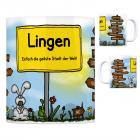 Lingen (Ems) - Einfach die geilste Stadt der Welt Kaffeebecher