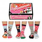 Mistletoes Weihnachten Oddsocks Socken in 37-42 im 6er Set