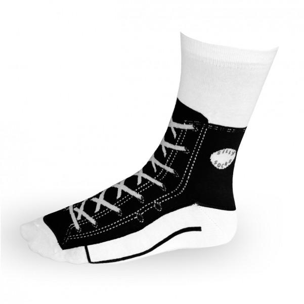 neueste große sorten näher an Sneaker Socken schwarz - Silly Socks Sneakers Turnschuhe