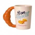 Bon Appetit Croissant Kaffeebecher