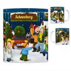 Schneeberg, Erzgebirge Weihnachtsmarkt Kaffeebecher