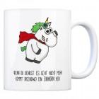 Honeycorns Kaffeebecher mit Einhorn Motiv und Spruch: Wenn du denkst es geht nicht mehr ...