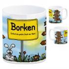 Borken, Westfalen - Einfach die geilste Stadt der Welt Kaffeebecher