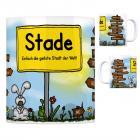 Stade, Niederelbe - Einfach die geilste Stadt der Welt Kaffeebecher