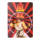 Street Fighter Ryu Metallschild