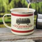 Volkswagen T1 Bus Kaffeebecher aus Emaille