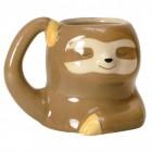 Faultier Kaffeebecher in braun