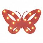 Schmetterling Dekolampe mit 14 LEDs