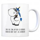 Honeycorns Kaffeebecher mit Einhorn Motiv und Spruch: Zähle bis zehn, um dich zu beruhigen. ...