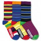 Kringel und Streifen Socken in 30,5-39 im 3er Set