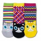 Katzen Füsslinge Socken in 37-42 im 3er Set