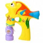 Fisch Seifenblasenpistole in gelb mit Licht und Sound