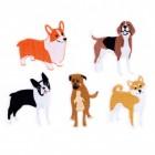 Hunde Bügelbilder im 5er Set