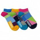 Punkte und Streifen Füsslinge Socken in 37-42 im 3er Set