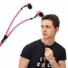 Reißverschluss Ohrhörer rosa - Zip Kopfhörer