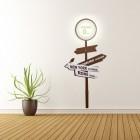 Die Home Entfernungsschild Dekolampe mit Wandsticker
