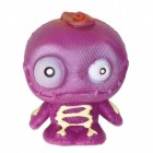 Mini Monster Stressball in lila mit Skelett