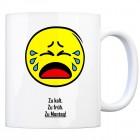 Kaffeebecher mit Spruch: Zu kalt. Zu früh. Zu Montag!