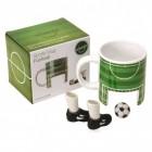 Fußball Kaffeebecher mit Finger-Fußballset