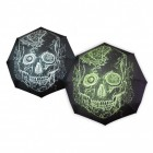 Totenkopf Regenschirm mit Glow in the Dark Effekt