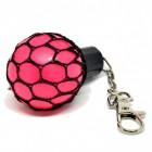 Netz Stressball Schlüsselanhänger in pink