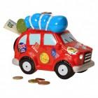 Reiseauto Spardose aus Keramik