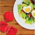 Eierformer Herzilein bringt hartgekochte Eier in Herzform