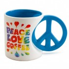 Peace, Love, Coffee Kaffeebecher