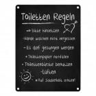 Toilettenregeln Blechschild in 15x20 cm