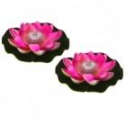 Seerose LED Dekolampen für die Badewanne in rosa im 2er Set