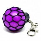 Netz Stressball Schlüsselanhänger in lila
