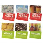 Vegan oder nicht Vegan? Quiz Gesellschaftsspiel mit 56 Karten