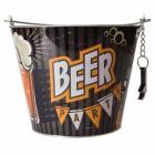 Der Biereimer Vintage Beer Bierkühler mit Flaschenöffner aus Metall