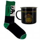 Harry Potter Slytherin Quidditch Team Kaffeebecher aus Metall mit Socken