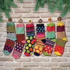 Oddsocks Socken Adventskalender mit 24 Socken für Frauen