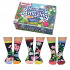 Blumen im Garten Oddsocks Socken in 37-42 im 6er Set