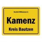 Herzlich willkommen in Kamenz, Kreis Bautzen Metallschild