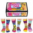 Verrückte Socken Oddsocks Polka Face für Frauen im 6er Set