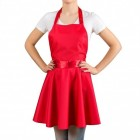 Rockabilly Kleid Kochschürze in rot