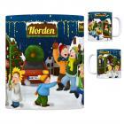 Norden, Ostfriesland Weihnachtsmarkt Kaffeebecher