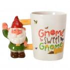 Gnome sweet Gnome Kaffeebecher mit Gartenzwerg als Griff
