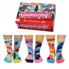 Glamazing Glitzer Oddsocks Socken in 37-42 im 6er Set