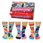 Glamazing Glitzer Oddsocks Socken in 37-42 im 6er Set